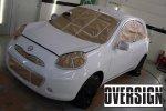 Nissan March Branco Fosco, Envelopamento Liquido, Power Revest Oversign (2)